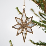 CTW Home Collection Antiqued Mercury Glass Star Ornaments (Box of 2)