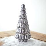 CTW Home Collection Retro Silver Mercury Glass Christmas Tree