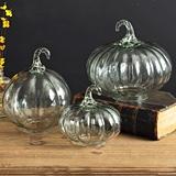 CTW Home Collection Set of Three Clear Handblown-Glass Pumpkins