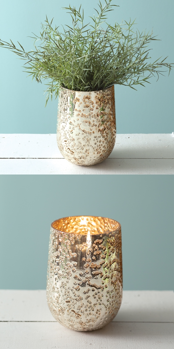 CTW Home Collection 'Aurelia' Mercury Glass Vase/Candle Holder