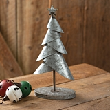 CTW Home Collection Layered Galvanized Christmas Tree with Star Atop
