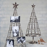 CTW Home Collection Antiqued-Metal Card/Photo Trees (Set of 2)