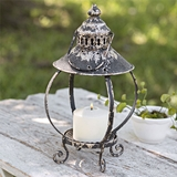"CTW Home Collection Antiqued-Black-Metal ""Gazebo"" Lantern"