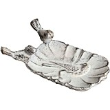 CTW Home Collection Cast-Iron White Wren Soap/Trinket Dish (Set of 2)