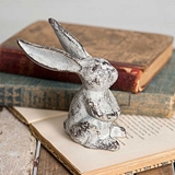 CTW Home Collection Vintage-Look Cast-Iron Long-Eared Bunny (Box of 2)