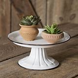 CTW Home Collection Small Round Pedestal Stand with Black Trim