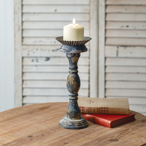 CTW Home Collection Vintage-Look Large Distressed Candle Stand