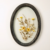 CTW Home Collection Oval Wood-Frame Botanical Wall Decor