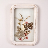 CTW Home Collection Rectangular Wood-Frame Botanical Wall Decor