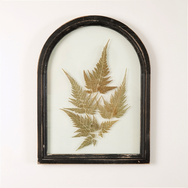 CTW Home Collection Black Arched Wood-Frame Botanical Wall Decor