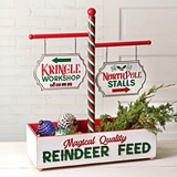 "CTW Home Collection ""Reindeer Feed"" Tabletop Holiday Display"