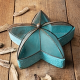 CTW Home Collection Seafoam Blue Metal Starfish-Shaped Sifter Tray