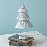 CTW Home Collection Medium-Sized Alba Winter Wonderland Tabletop Tree