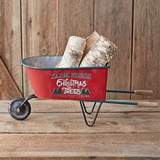 CTW Home Collection Farm Fresh Christmas Trees Wheelbarrow