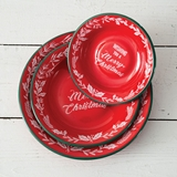 CTW Home Collection Wishing You a Merry Christmas Enameled Dishes (3)