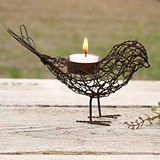 CTW Home Collection Wire Love Bird Tea Light Holders (Set of 4)