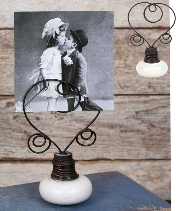 CTW Home Collection Vintage-Look Doorknob Photo Holders (Box of 2)