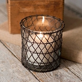 CTW Home Collection 'Harriett' Wire Candle Holder with Glass (Set of 4)