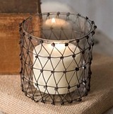 CTW Home Collection 'Julia' Wire Candle Holder with Glass (Set of 4)