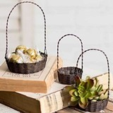 CTW Home Collection 3 Assorted Sizes Wire Trinket Baskets (Set of 12)