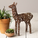 CTW Home Collection Twisted Wire Llama Figurines (Set of 2)