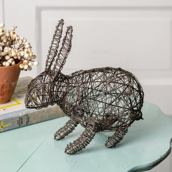 CTW Home Collection Twisted Wire Bunny Figurine