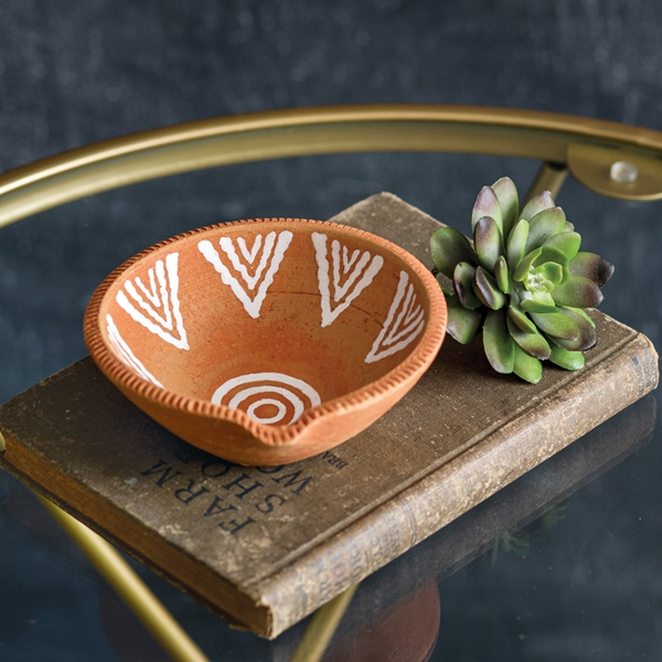 CTW Home Collection Hand-Painted Terra Cotta Trinket Dish (Box of 2)