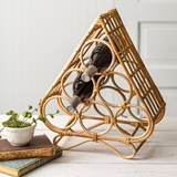 CTW Home Collection Unique Rattan Wine Bottle Holder