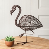 CTW Home Collection Twisted Wire Flamingo Figurine