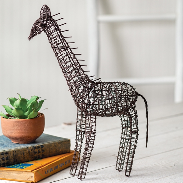 CTW Home Collection Twisted Wire Giraffe Figurine
