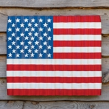 CTW Home Collection Corrugated Metal Wave Design US Flag