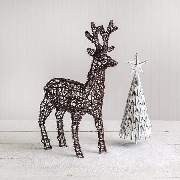 CTW Home Collection Twisted Wire Reindeer Figurine