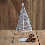 CTW Home Collection Large Antique Wire Christmas Tree in White