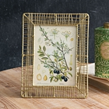 CTW Home Collection 'Sonoma' Woven Gold-Finish Wire 5x7 Picture Frame