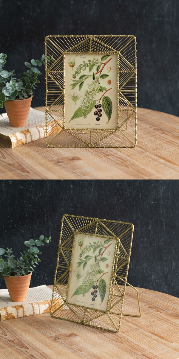CTW Home Collection 'Tahiti' Woven Gold-Finish Wire 5x7 Picture Frame