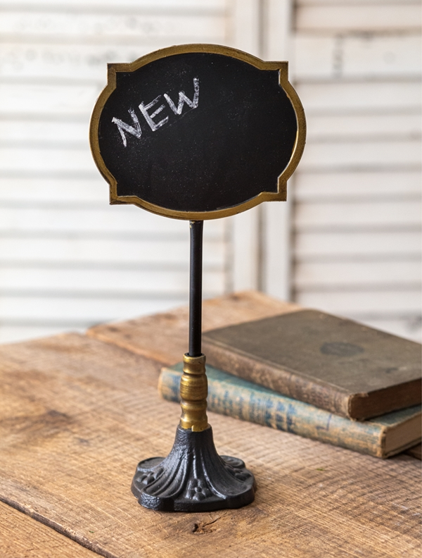CTW Home Collection Chalkboard on Ornate Stand Sign (Box of 2)