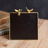 CTW Home Collection Golden-Edged Chalkboard Sign with Love Birds
