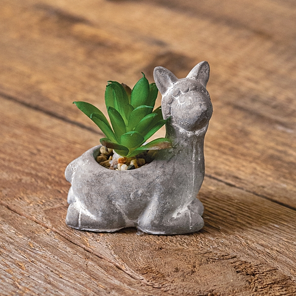 CTW Home Collection Resin Llama Pot with Artificial Succulent