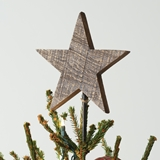 CTW Home Collection Wooden Christmas Star Tree Topper