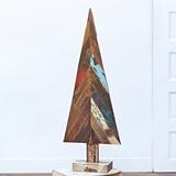 CTW Home Collection Distinctive Reclaimed-Wood Fir Tree Figurine