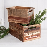 CTW Home Collection Set of Two Distinctive Reclaimed-Wood Crates