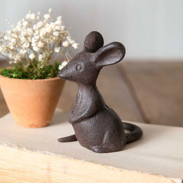 CTW Home Collection Cast-Iron Mouse Figurines (Set of 4)