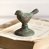 CTW Home Collection Antiqued Cast-Iron Chickadee Figurines (Set of 4)