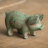 CTW Home Collection Antiqued Cast-Iron Piglet Figurines (Set of 4)
