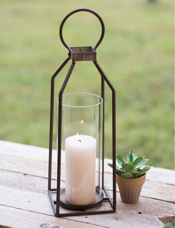 CTW Home Collection Large Greenville Pillar Candle Lantern