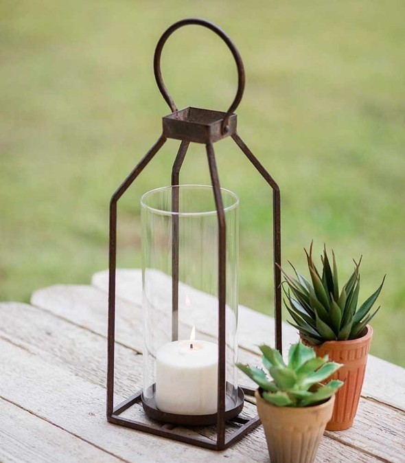 CTW Home Collection Small Greenville Pillar Candle Lantern