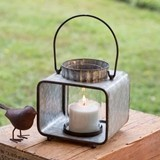 CTW Home Collection Small Jonah Candle Lantern with Glass Chimney
