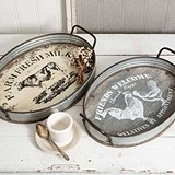 CTW Home Collection Farmhouse Designs Oval Serving Trays (Set of 2)