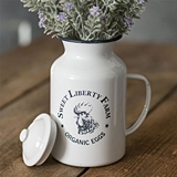 CTW Home Collection 'Sweet Liberty Farm' Enamel-Covered-Metal Canister