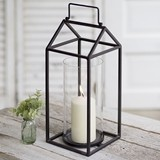 CTW Home Collection 'The Devon' Clean-Lines Metal Lantern with Handle